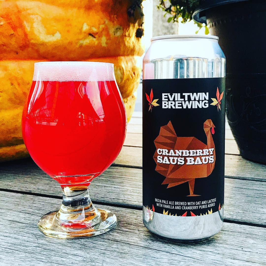 Cranberry Saus Baus by Evil Twin Brewing. Image courtesy of their Instagram
