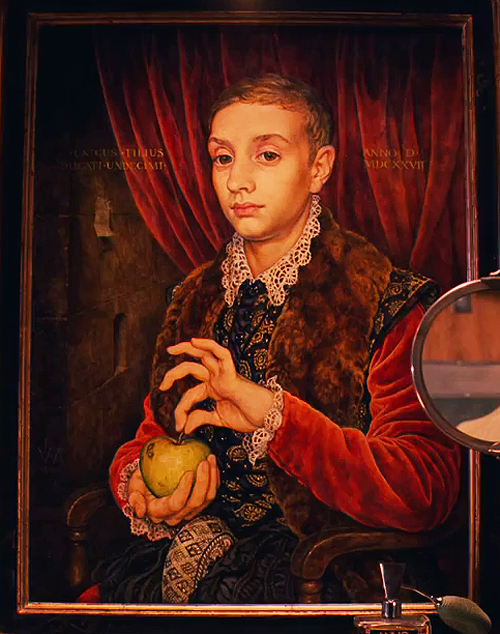 The Boy With The Apple, as seen in The Grand Budapest Hotel