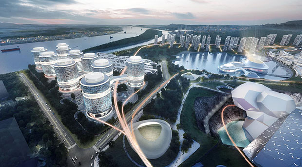 Changsha Eco Tech City scheme, Hunan Province, China - Asymptote