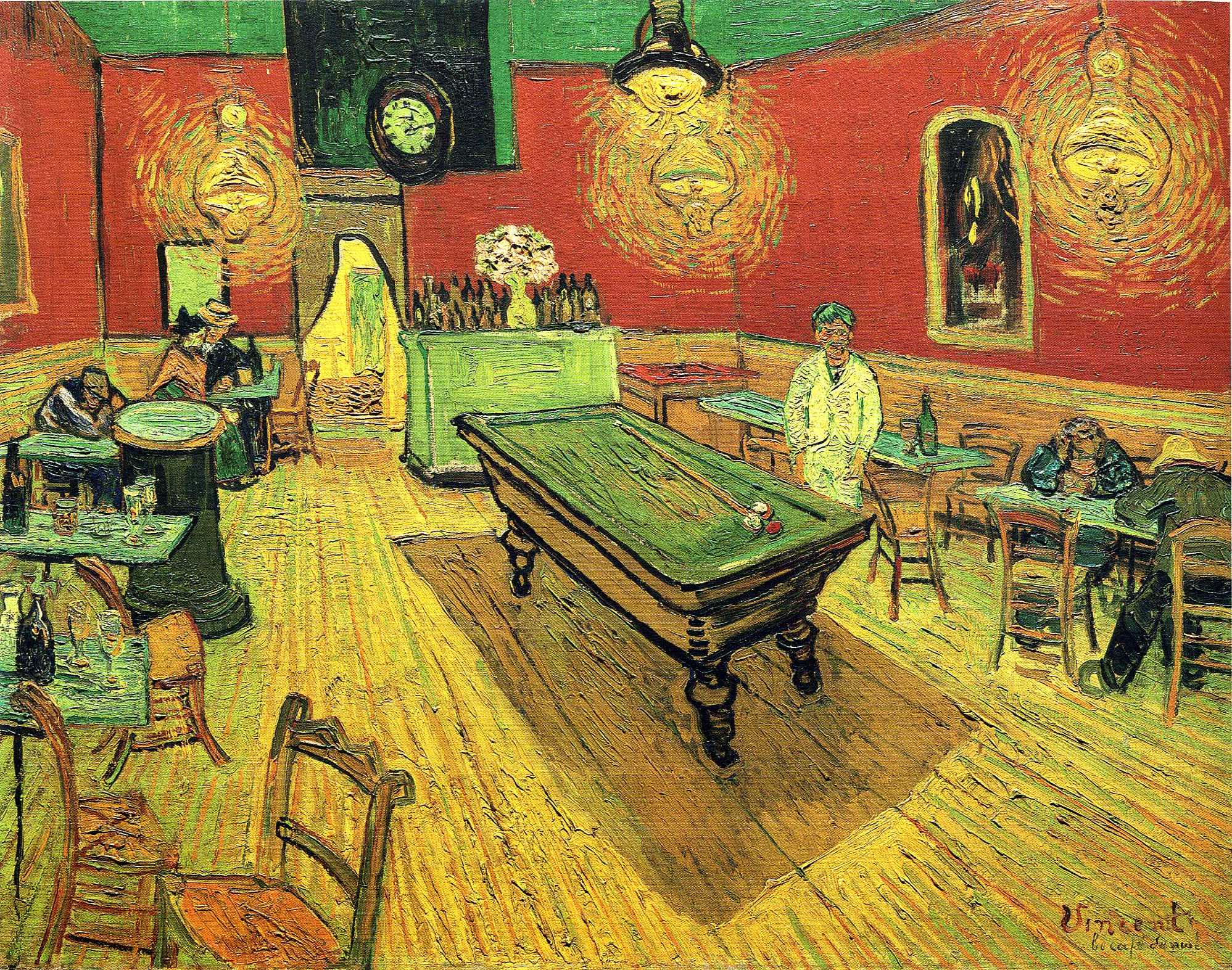 The Night Cafe (1888) by Vincent van Gogh. As reproduced in Art in Time