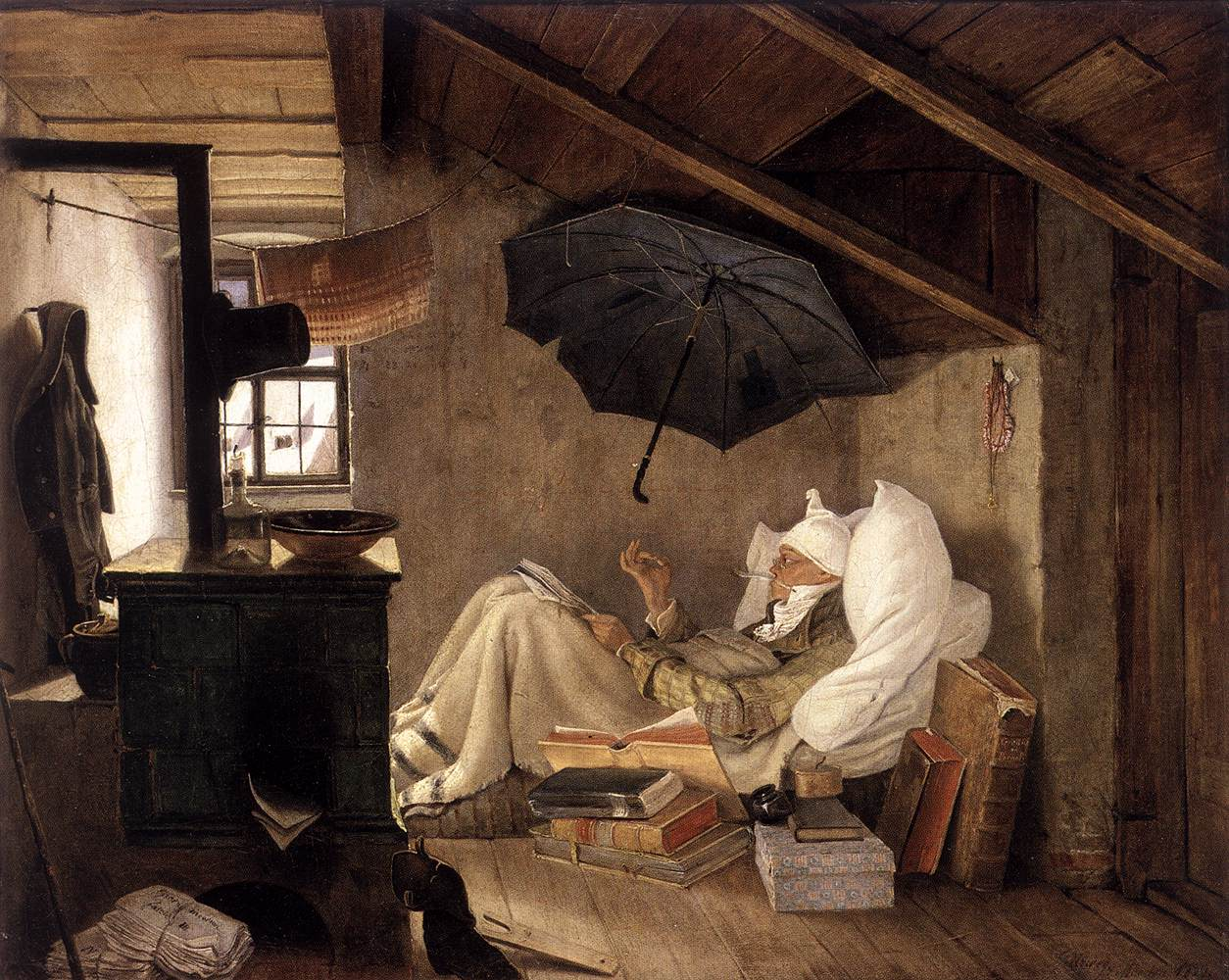 The Poor Poet (1839) by Carl Spitzweg