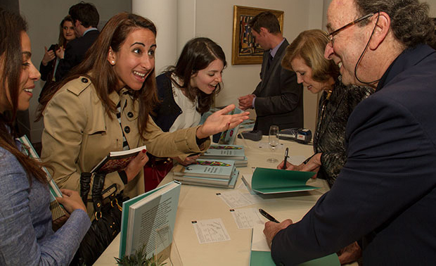 Thea and Ethan meet young collectors at Sotheby's earlier this year
