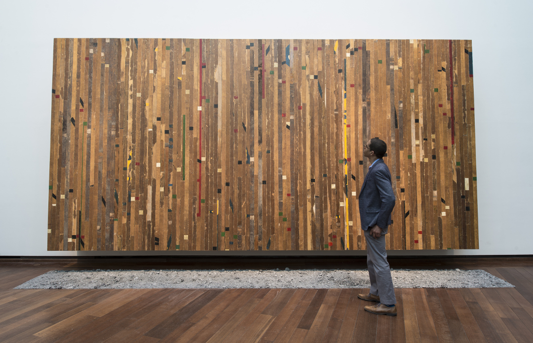 Installation view of A Game of My Own, 2017 On view in Theaster Gates: The Minor Arts Courtesy of the artist, White Cube, and Regen Projects National Gallery of Art, Washington