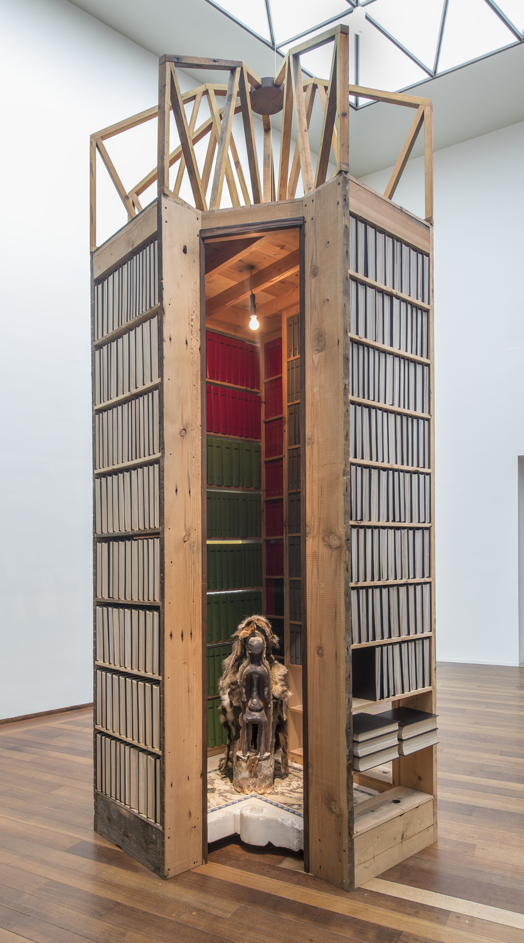 Installation view of New Egypt Sanctuary of the Holy Word and Image and Elegua in Winter, 2017 On view in Theaster Gates: The Minor Arts Courtesy of the artist, White Cube, and Regen Projects National Gallery of Art, Washington
