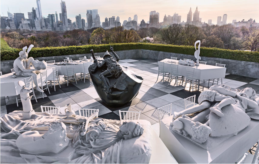 How Adrián Villar Rojas 'threw a dinner party' on the Met roof