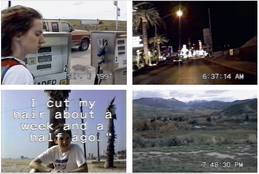 Stills from the video component of The Lesbian (1998) by Sharon Hayes