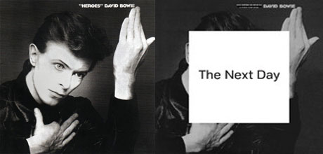 The cover of Bowie's new album The Next Day to be released in March