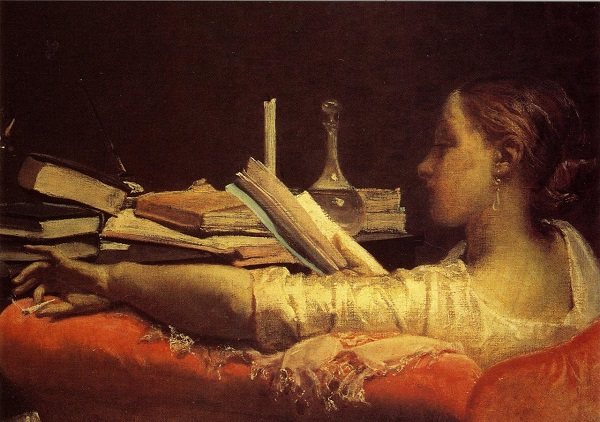 The Reader (c.1865) by Federico Faruffini