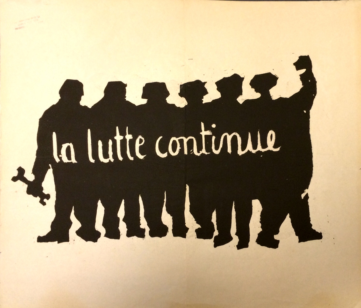 Atelier Populaire's poster 'The Struggle Continues'