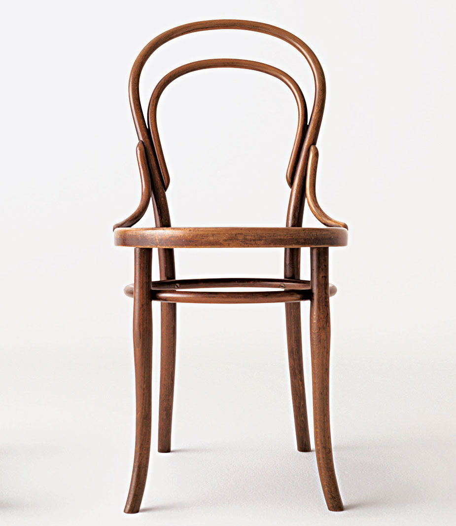 Chair No. 14, 1859, by Michael Thonet (1796–1871), from Chair: 500 Designs that Matter