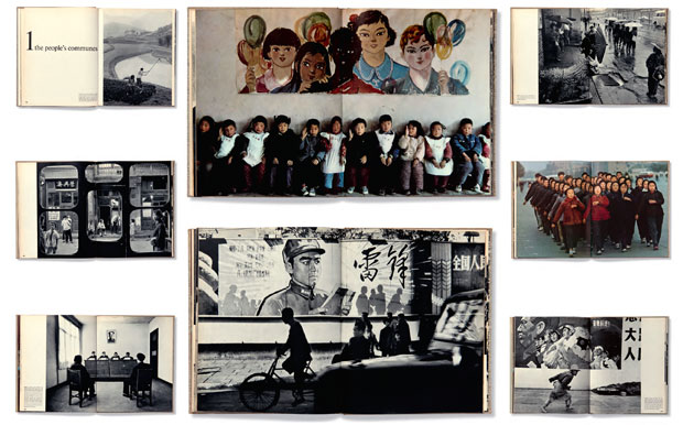 Spreads from The Three Banners of China by Marc Riboud, from Magnum Photobook: The Catalogue Raisonné
