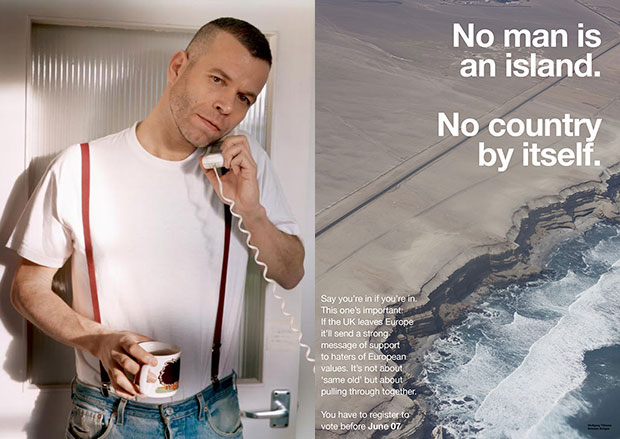 Wolfgang Tillmans and one of his EU Referendum posters