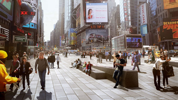 Snøhetta's landscaping of Times Square is a hit