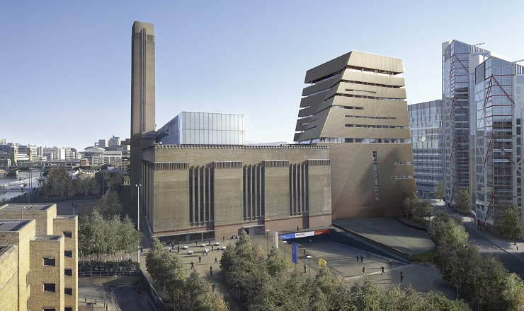 The Tate Modern's new extension, viewed from the west © Hayes Davidson and Herzog & de Meuron