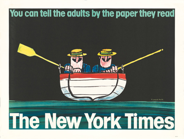 New York Times advert (1965) by Tomi Ungerer
