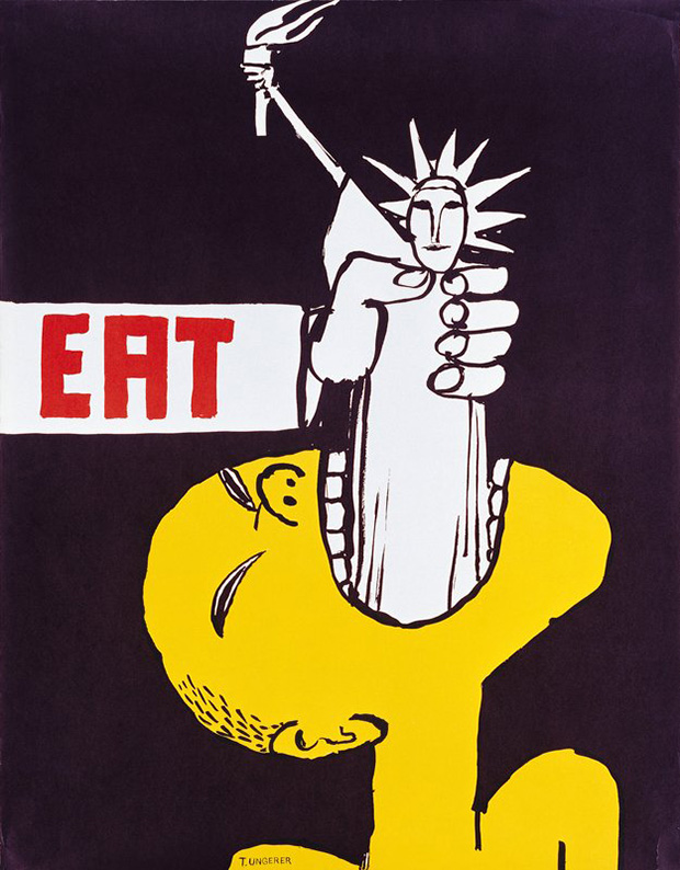 Tomi Ungerer, Eat, 1967 - Limited edition Artspace print