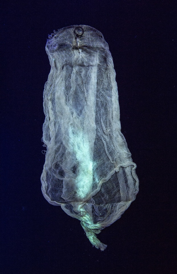Ectoplasm under ultraviolet light, early 20th century; from Imponderable, courtesy of Tony Oursler's archive