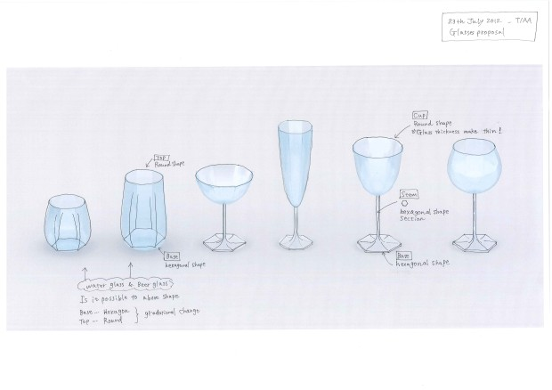 Drinking glass set, 2011-2012 by Toyo Ito for Alessi. From Alessi - In-Possible