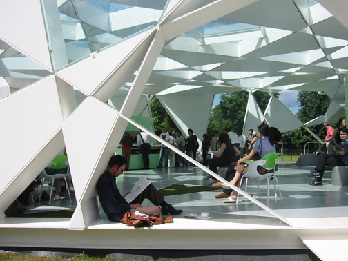 Serpentine Gallery Pavilion, 2002, London, UK, by Toyo Ito.