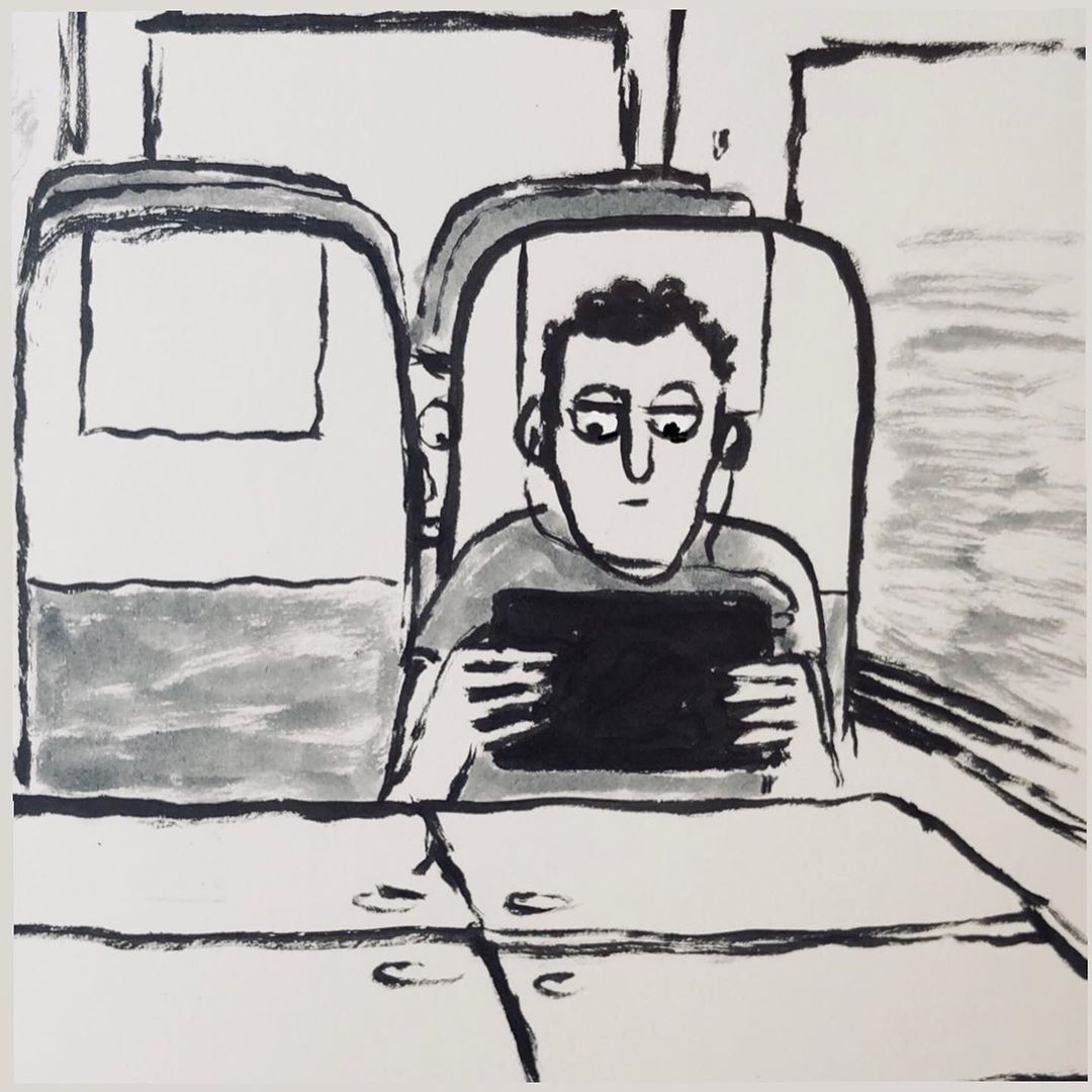 Summer trains by Jean Jullien