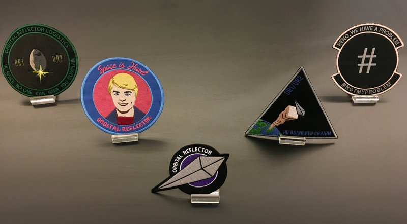 Trevor Paglen's limited edition of five collector's patches. Image courtesy of Artspace
