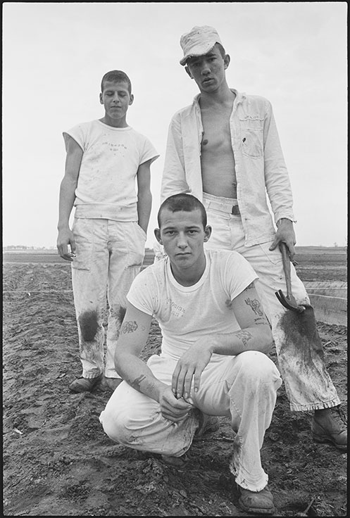Age 18, six years, theft; age 18, three years, burglary; age 18, four years, forgery, by Danny Lyon, from Conversations with the Dead