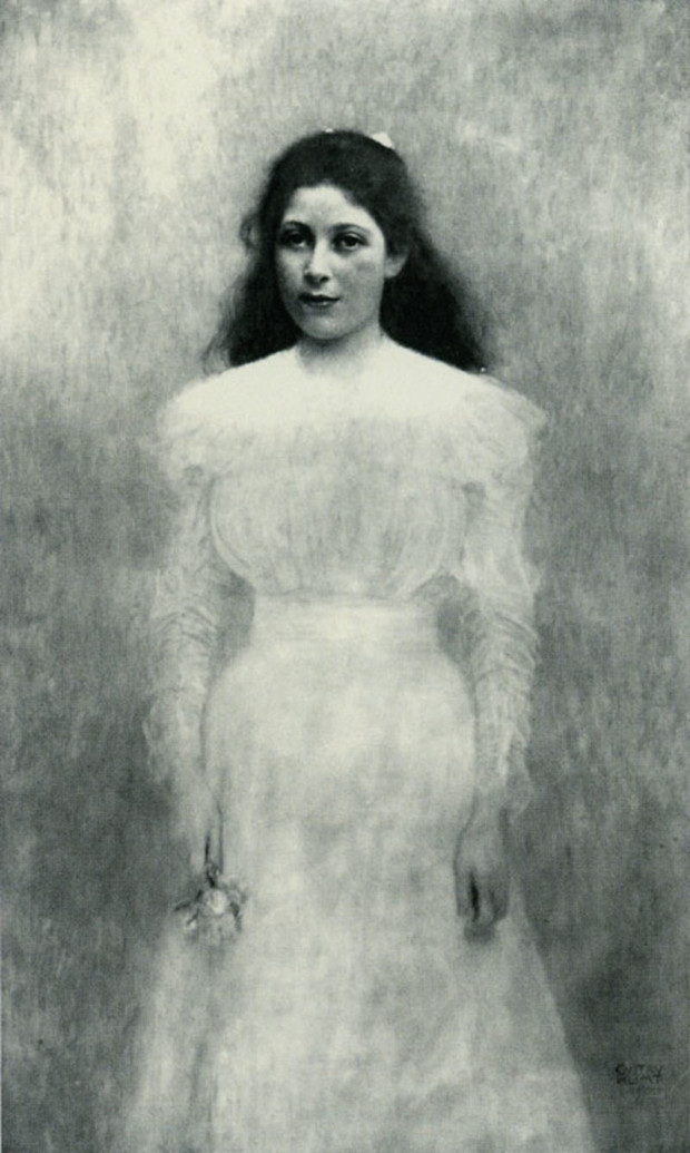 Portrait of Trude Steiner 1898, oil on canvas, presumed destroyed - Gustav Klimt. From The Museum of Lost Art