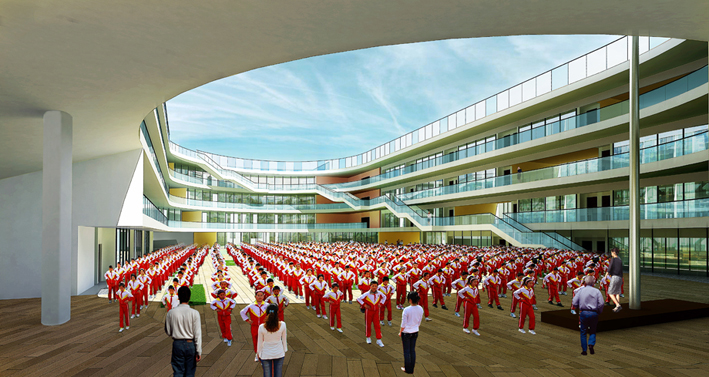 TianTai Second Primary School by LYCS architecture