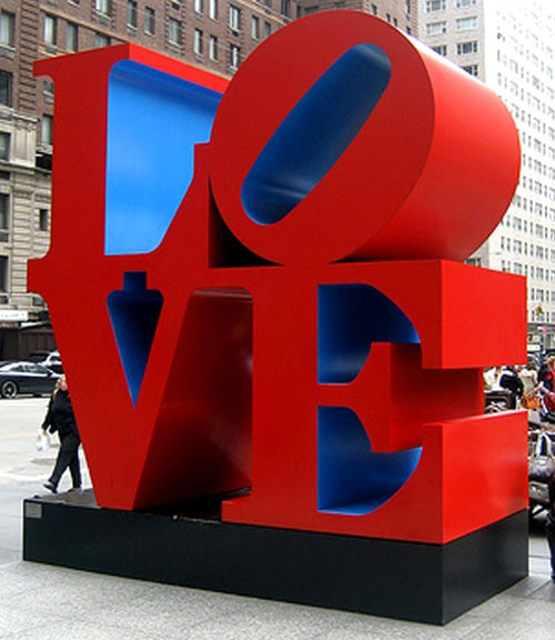 Robert Indiana's LOVE on Sixth Avenue