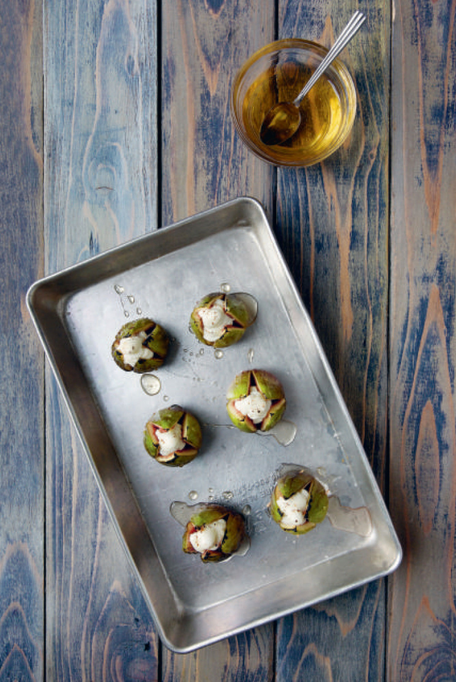 Tupelo Honey and Goat Cheese Stuffed Figs - from America the Cookbook