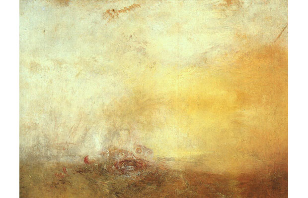 J M W Turner, Sunrise with Sea Monster (1845)