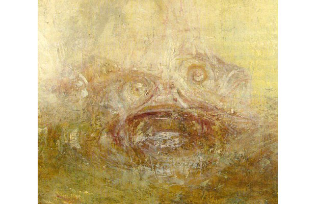 J M W Turner, Sunrise with Sea Monster (Detail) (1845)