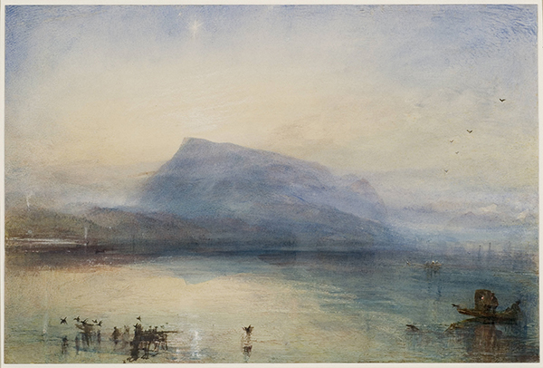 The Blue Rigi, Sunrise (1842) by JMW Turner