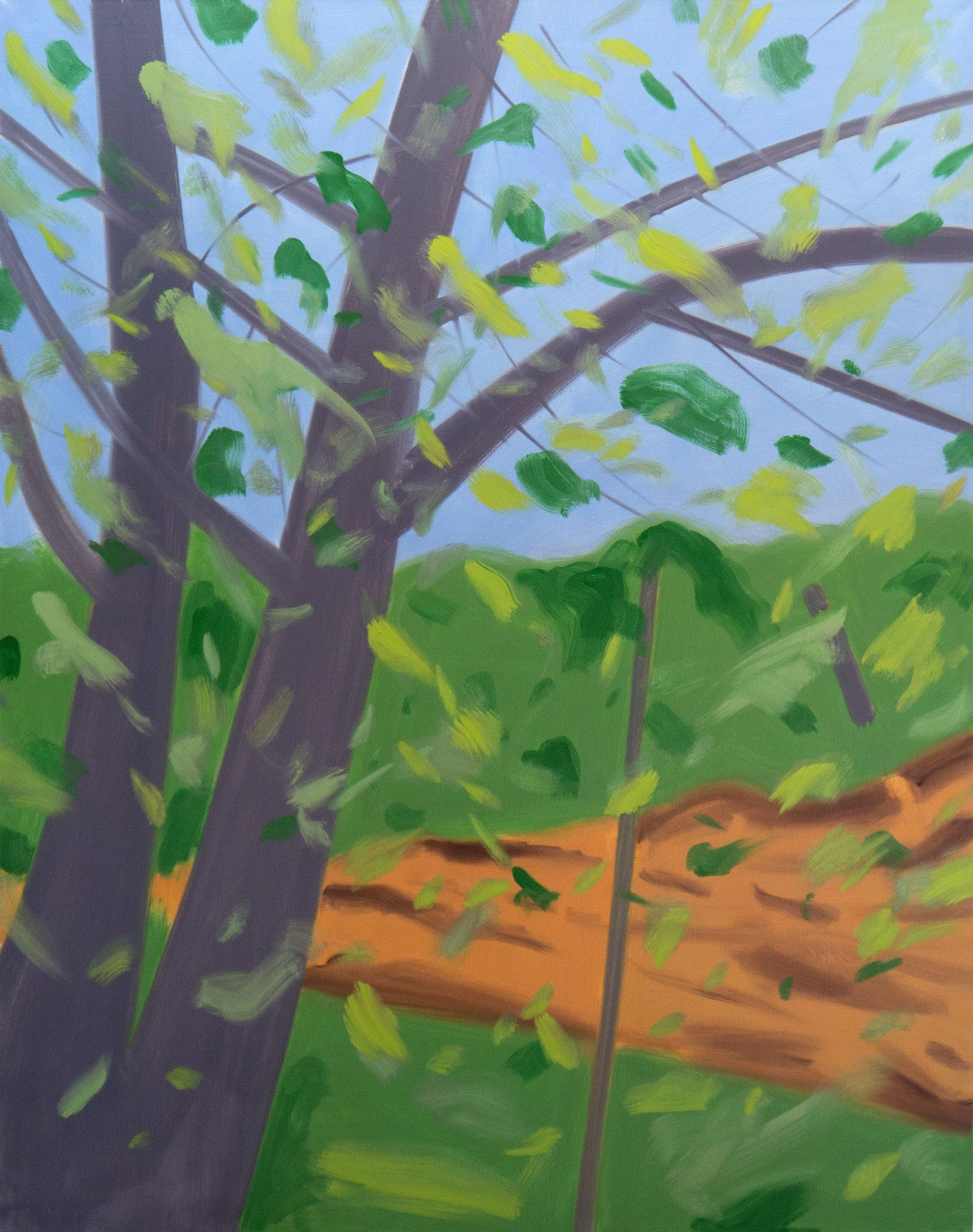 Two Trees 2015 Alex Katz - courtesy Timothy Taylor