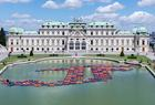 Ai Weiwei floats life-vest lotus flowers in Vienna