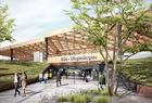 Mecanoo's wooden station is on track