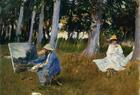 What happened the day Sargent painted Monet