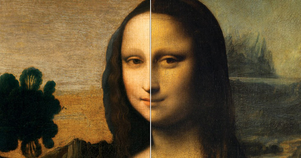The Isleworth Mona Lisa (left) and The Mona Lisa (right)