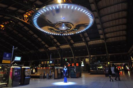 Beam me up  Lovegrove s UFO at  Ufo Beaming Up