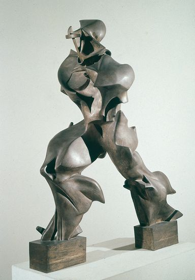 Unique Forms of Continuity in Space  (1913) by Umberto Boccioni