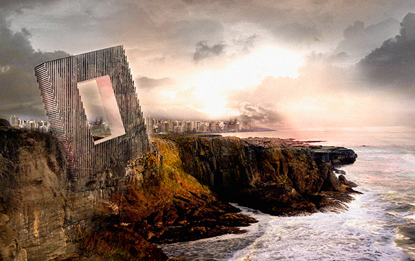 OOIIO proposes 'frame hotel' on Peruvian cliff