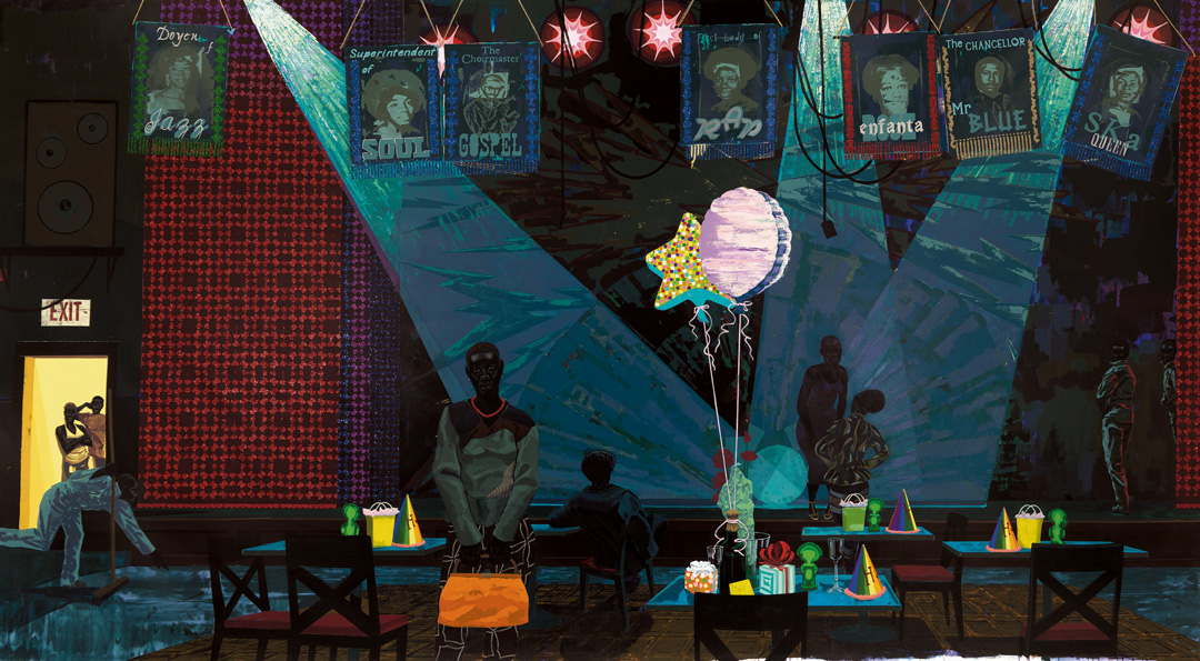 Untitled (Club Scene) (2013) by Kerry James Marshall