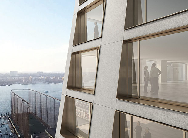 New renderings of 76 Eleventh Avenue by BIG. Image courtesy of BIG