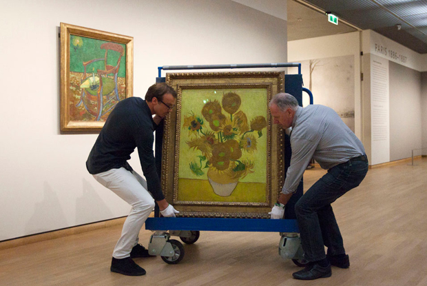 Vincent van Gogh's Sunflowers on the move