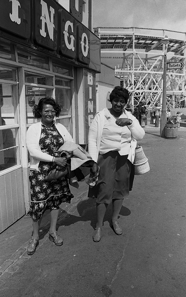 Day trip to Skegness, 1975, by Vanley Burke. From At Home with Vanley Burke, Ikon Gallery, Birmingham, 22 July – 27 September 2015, ikon-gallery.org. Courtesy Vanley Burke and Ikon