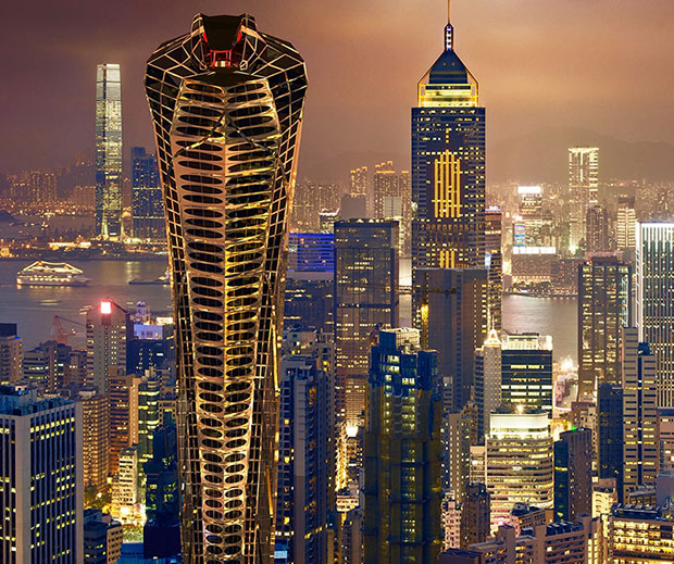 Asian Cobra Tower by Vasily Klyukin. Image courtesy of vasilyklyukin.com