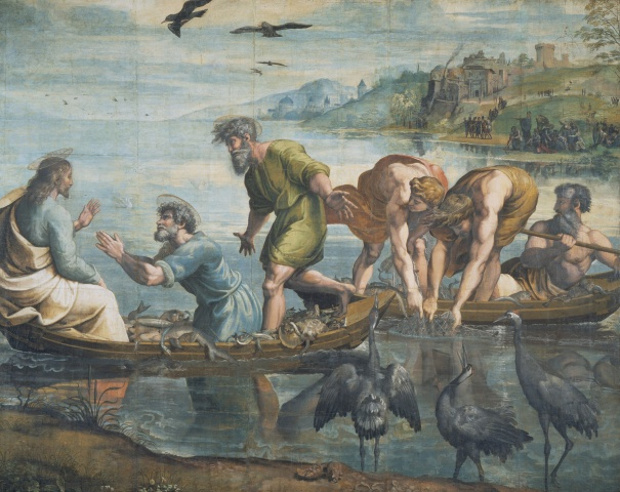 The Miraculous Draft of Fishes  (c.1515-6) by Raphael. As featured in our Raphael monograph