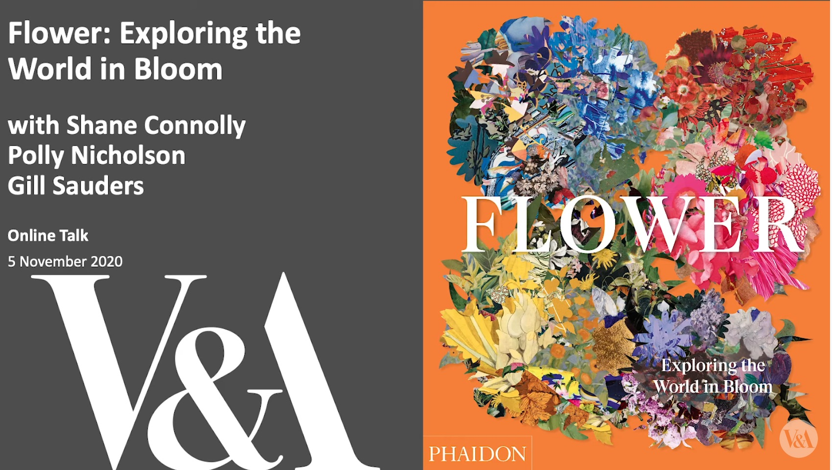 The holding image for the V&A's Flower panel discussion