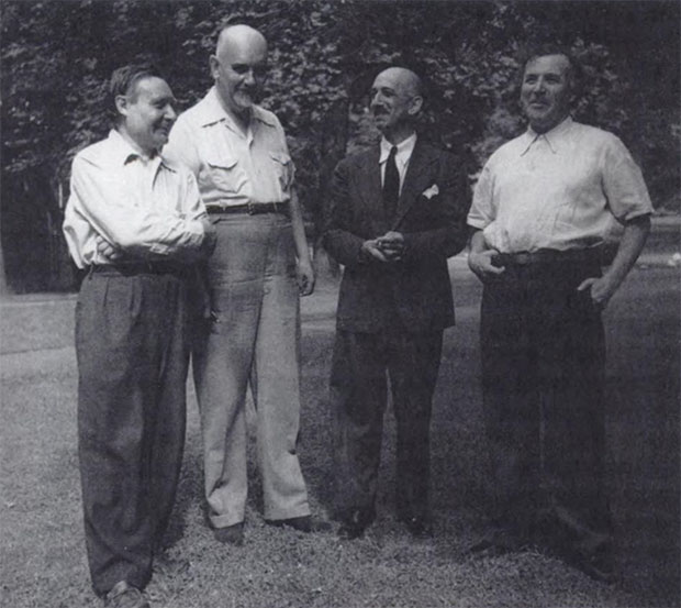 André Masson, Lionello Venturi, George Boas and Marc Chagall at Mount Holyoke College 1943