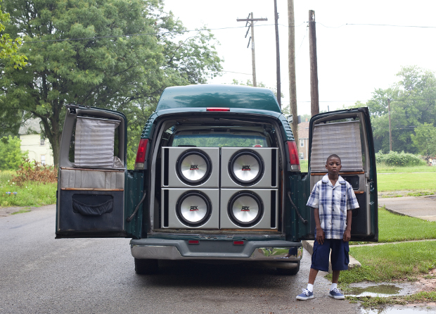 Corine Vermeulen, Ray Shawn and his uncle's van, 2011.  From The Architectural Imagination's My Detroit Postcards